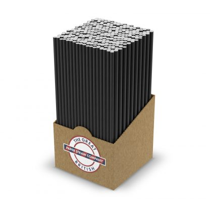 box of black straws