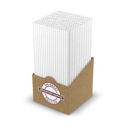 box of whie straws